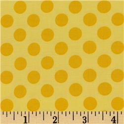 Michael Miller Ta Dot Sunny Yellow Fabric