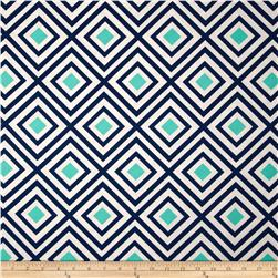 Kaufman Geo Pop Home Decor Canvas Diamonds Lagoon
