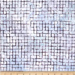 Artisan Batiks Elementals Boxed In Plaid Pewter