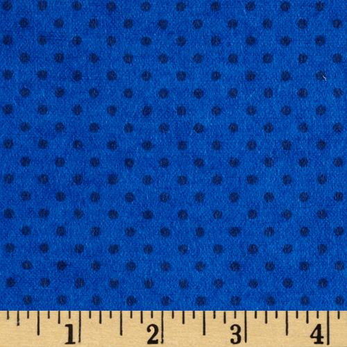 Flannel Small Dot on Royal Tonal
