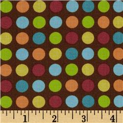 Giggle & Grow Dot Brown Fabric