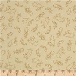 Cotton Tale Flannel Bunny Toile Cream