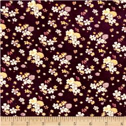 Corduroy Flowers Brown/Cream