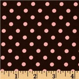 Michael Miller Dumb Dot Cocoa Fabric