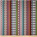 Moda Native Sun Serape Stripes Charcoal