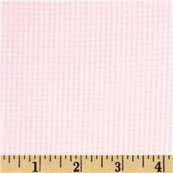 Cotton Gingham Check 1/16'' Pink/White Fabric