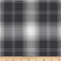 Designer Suiting Plaid Grey/White