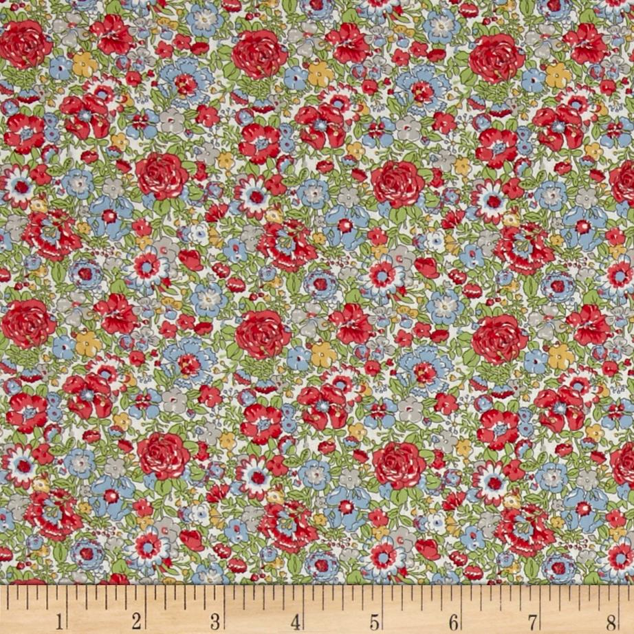 Liberty of London Classic Tana Lawn Amelie Green/Red