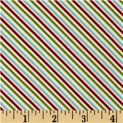 Moda Holly's Tree Farm Candy Cane Multi