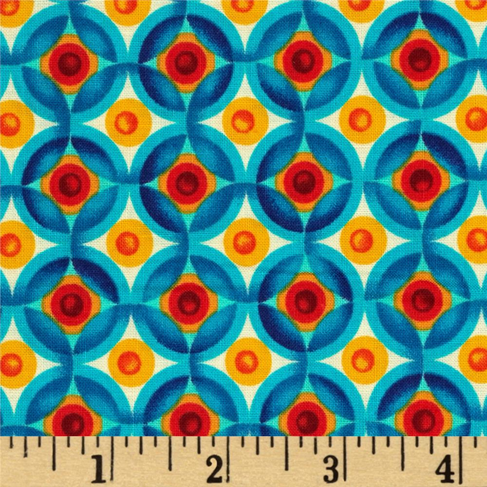 Kaufman Vivid Circle Plaid Multi