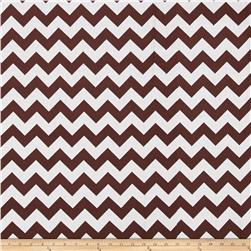 "Riley Blake 108"" Wide Medium Chevron Brown"