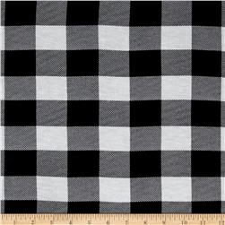 Buffalo Check Jersey Knit Ivory/Black