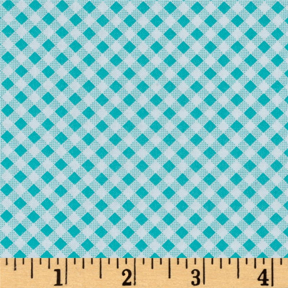 Quilt Camp Bias Check Blue