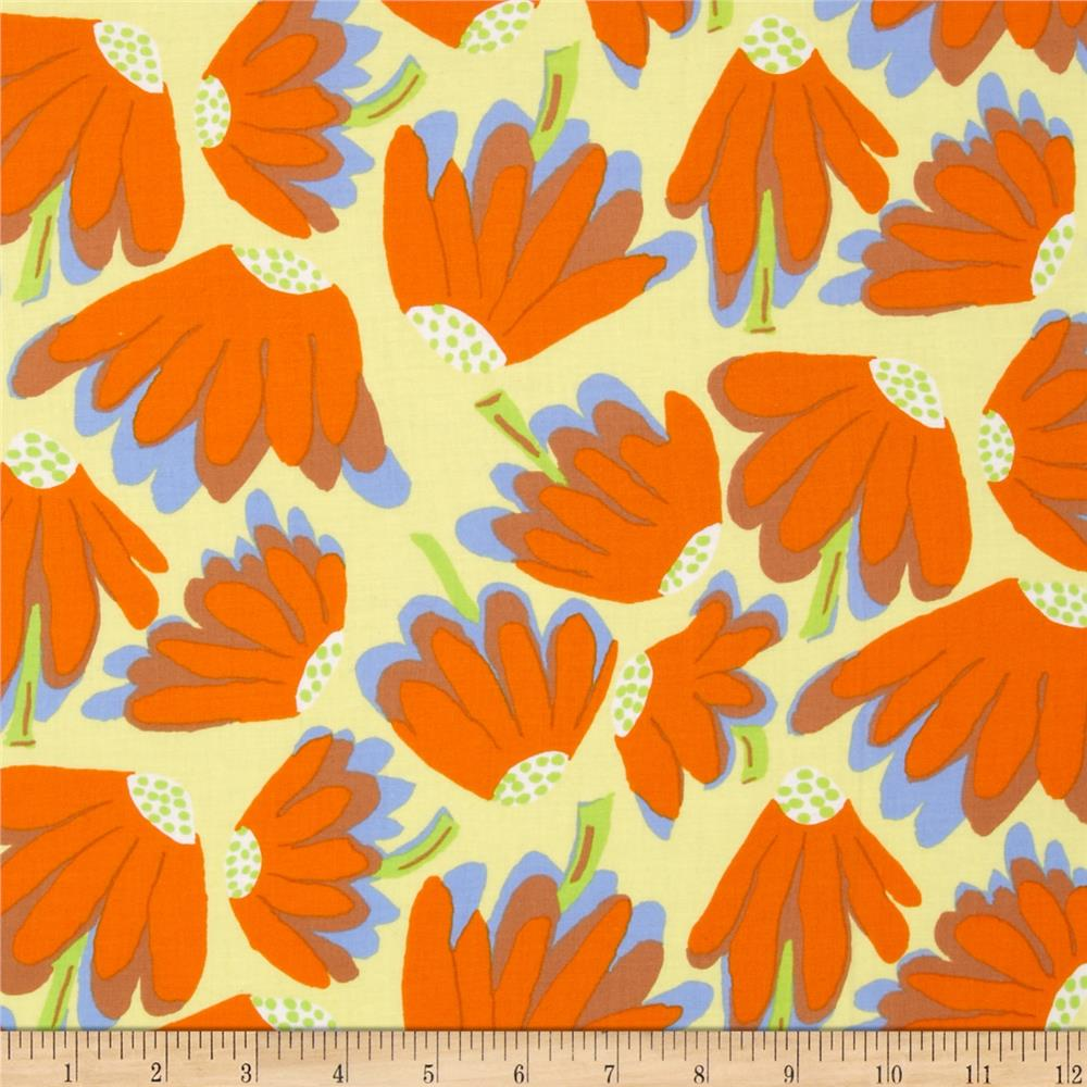 Kaffe Fassett Collective Lazy Daisy Sun Yellow
