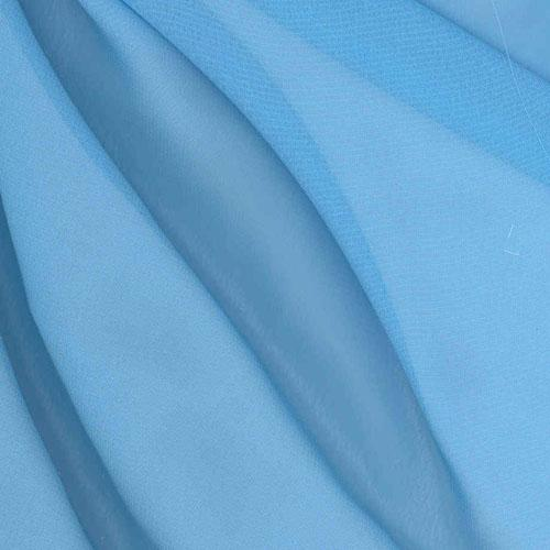 Chiffon Fabric Crystal Blue