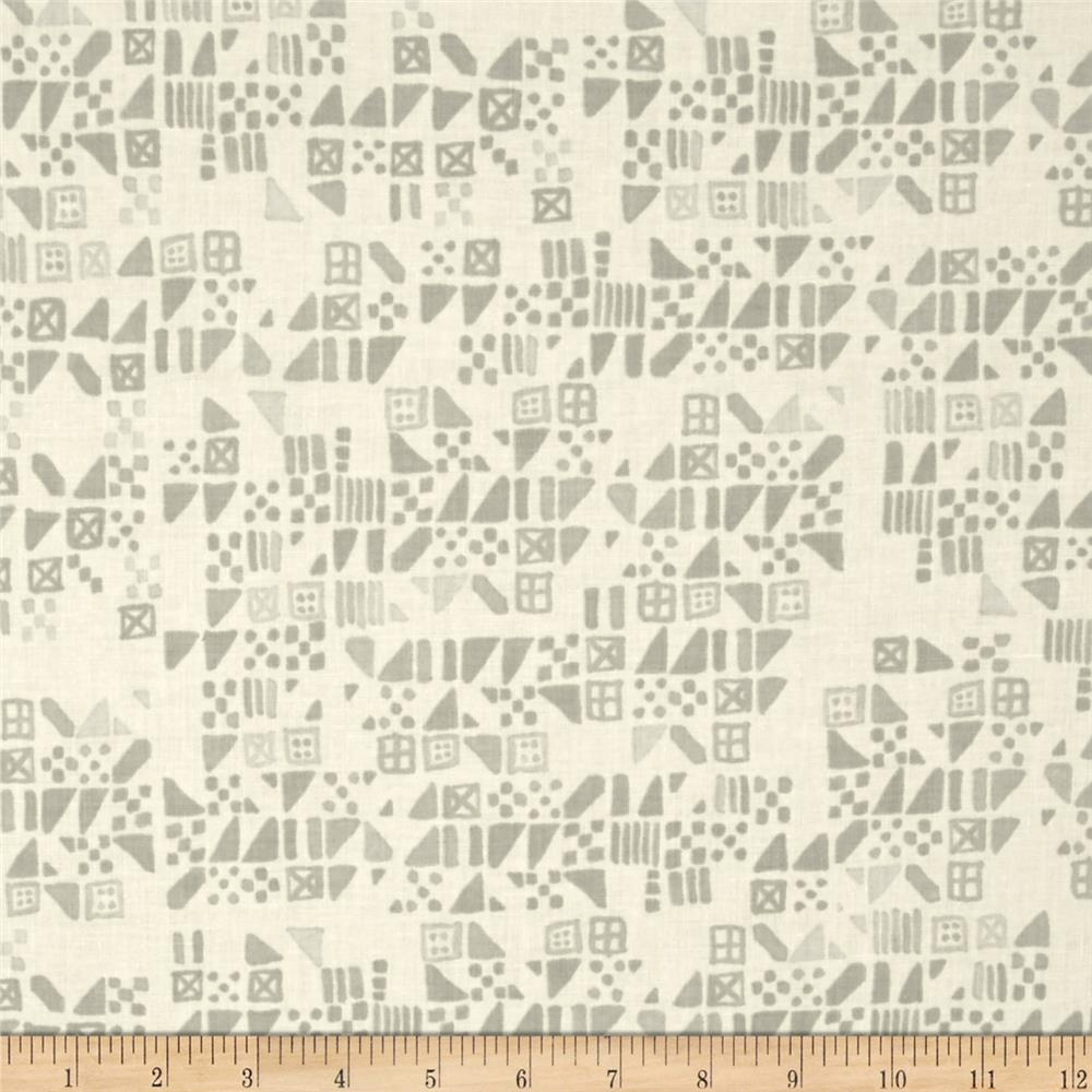 Cotton & Steel Clover Tiny Tiles Dove Fabric By The Yard