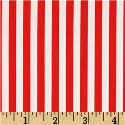 Michael Miller Clown Stripe Red Fabric