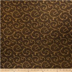 Fabricut Crypton Mosaic Scroll Umber Gold