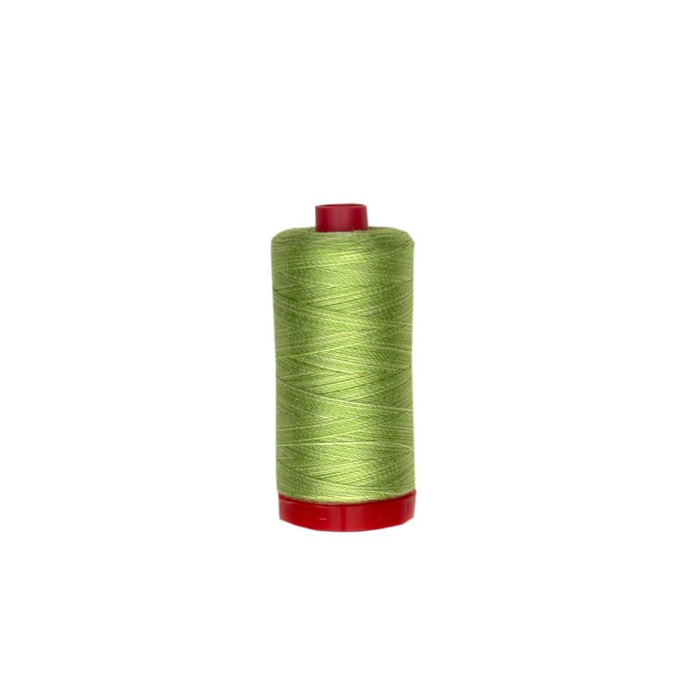 Aurifil 12wt Embellishment and Sashiko Dreams Thread Light Spring Green