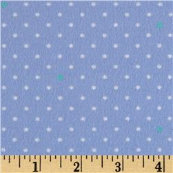 Michael Miller Cynthia Rowley Oh Baby Flannel Pin Dot Blue