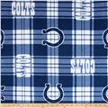 NFL Fleece Plaid Indianapolis Colts Blue