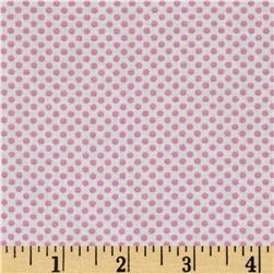 Moda Hello Petal Ditty Dots Cuddle White/Pink