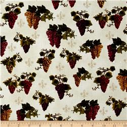 Kaufman Vineyard Collection Grapes Ivory