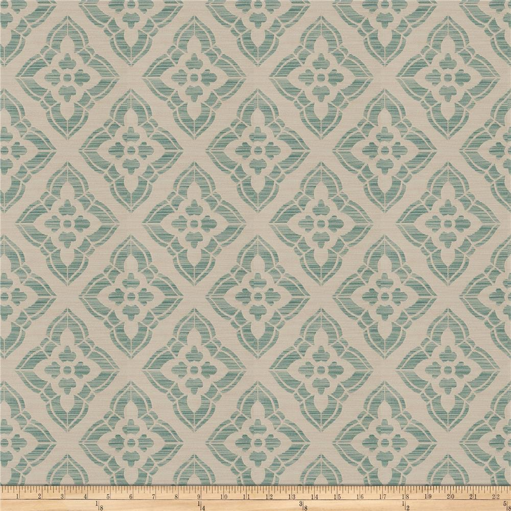 Isabelle De Borchgrave Stucco Diamond Teal