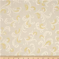 Downton Abbey Celebrations Metallic Brocade Flourish Gold