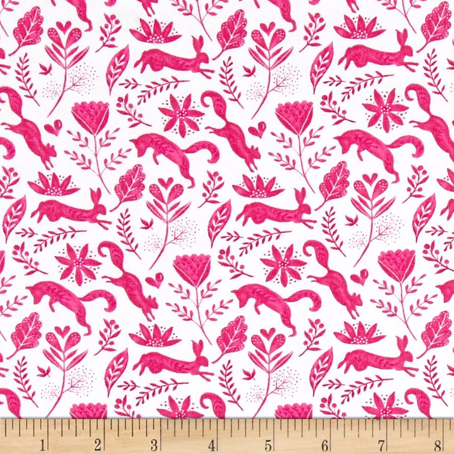 Michael Miller Frolic On Jersey Knit Frolicking Berry