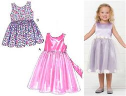 Kwik Sew Toddler Girls' Party Dresses Patterns