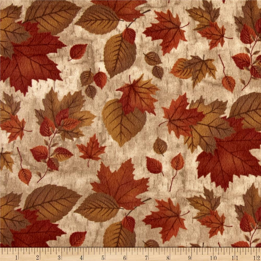Moda Endangered Sanctuary Flannel Autumn Leaves Cream