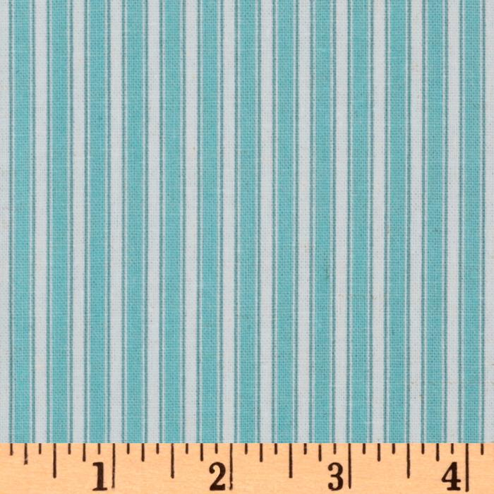 Dena Designs Sunshine Linen Blend Stripe Aqua