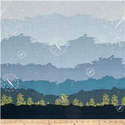 Riley Blake Jeep Double Border Print Blue