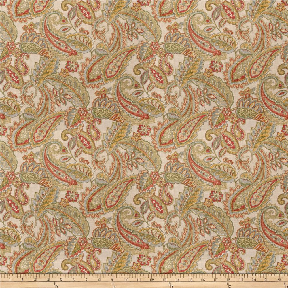 Fabricut All In Paisley Linen Blend Multi