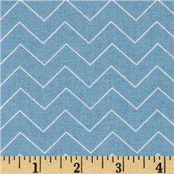 DIY Chevron Blue Fabric
