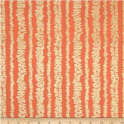 Michael Miller Glitz Garden Metallic Bars Peach