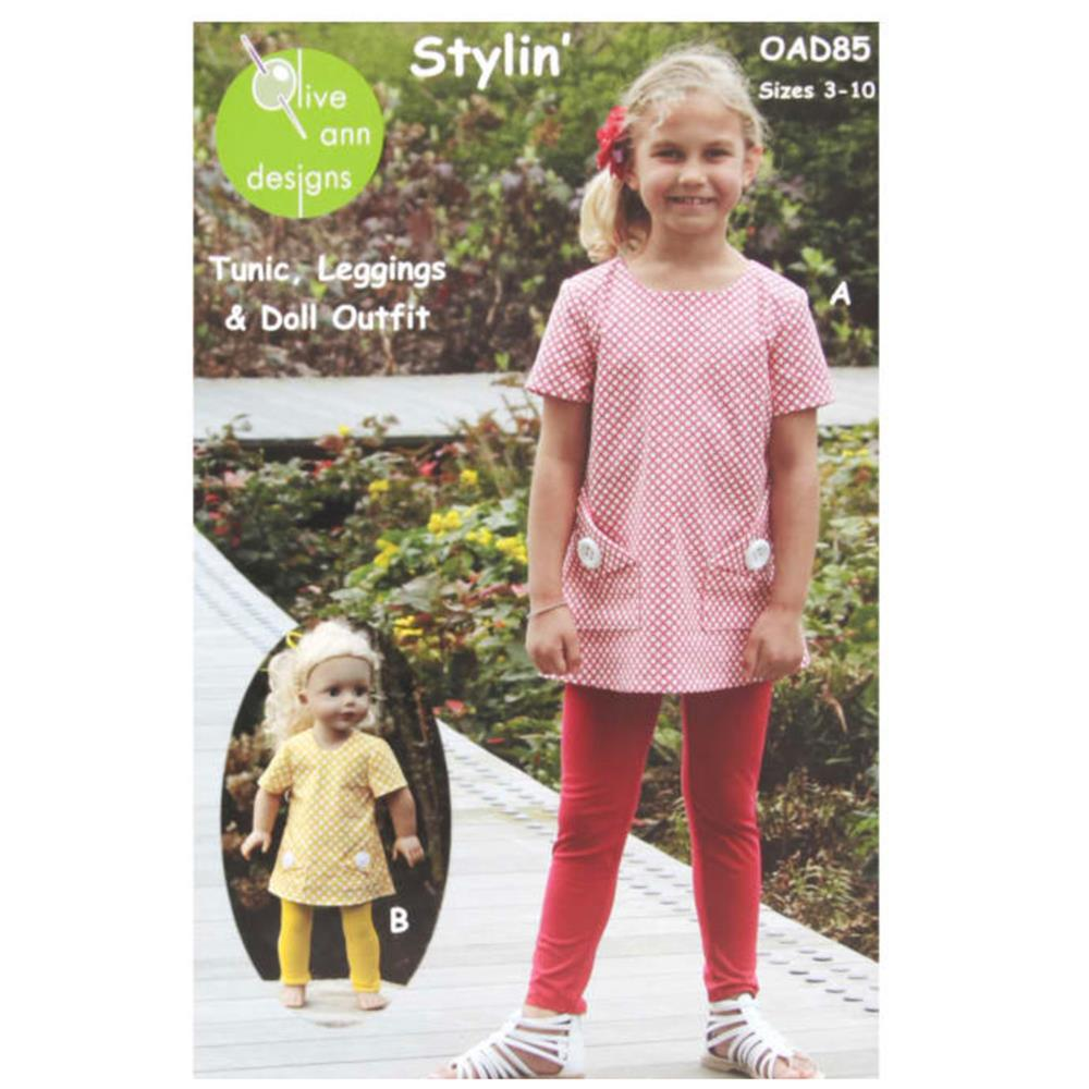 Olive Ann Designs Stylin' Tunic, Leggings & Doll