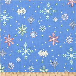 Susybee Christmas Snow Flakes Blue