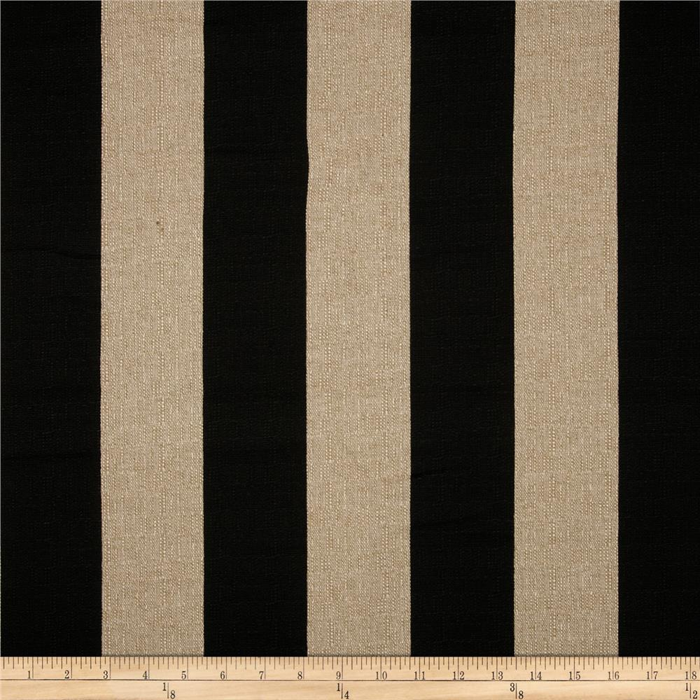 Premier Prints Vertical Stripe Denton Black