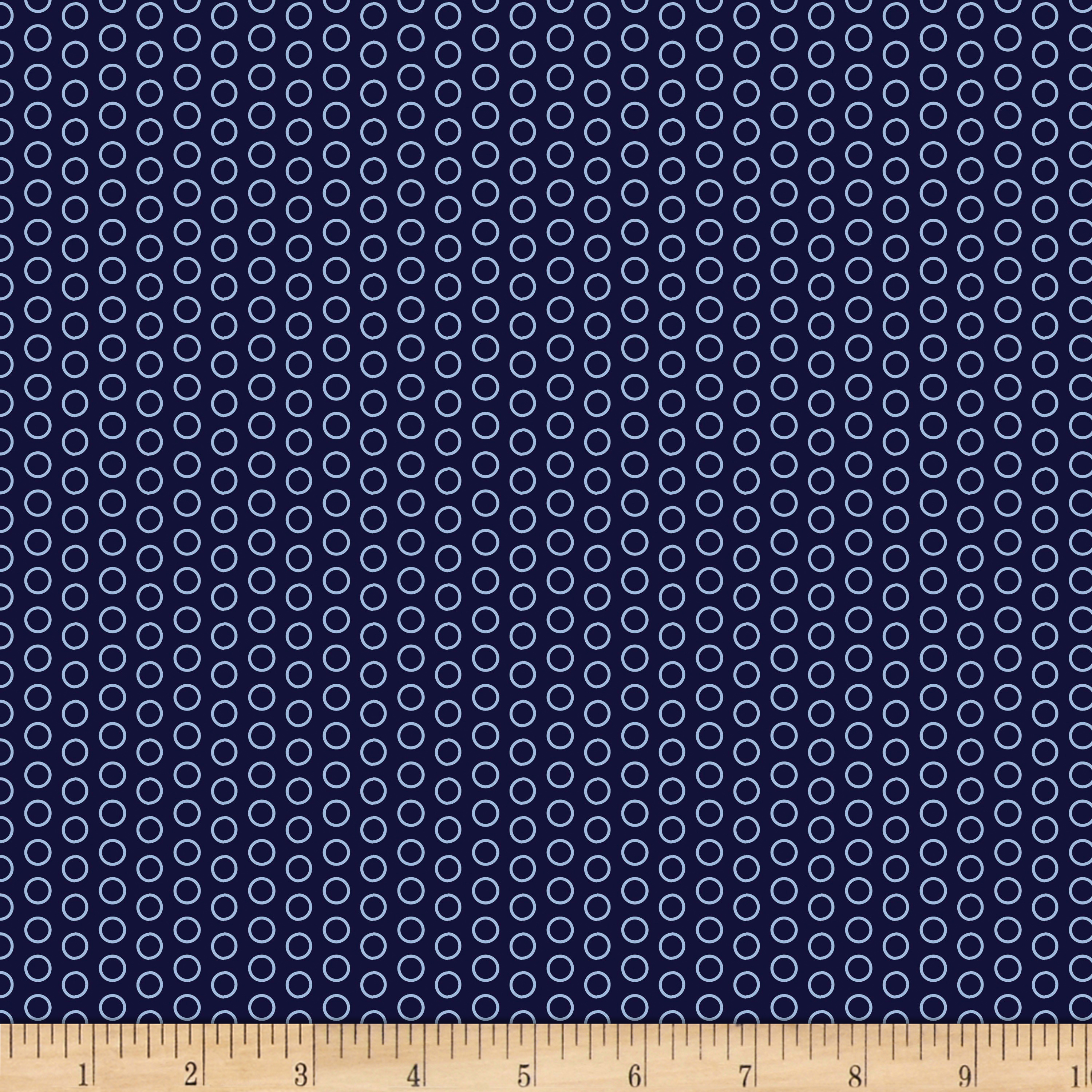 Riley Blake Speedster Sporty Dots Blue Fabric
