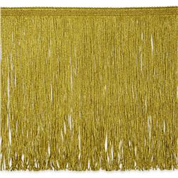 12'' Metallic Chainette Fringe Gold