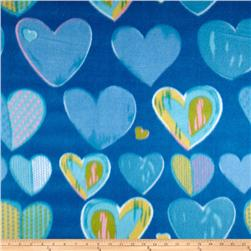Novelty Fleece Valentine Blue