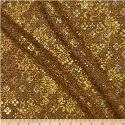 Temptation Embossed Metallic Knit w/ Hologram Sequin Gold