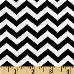 Onyx Jacquard Knit Chevron Black/White