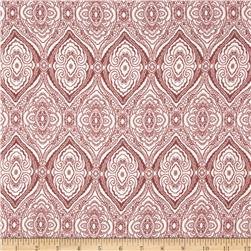 Rayon Crepe Moroccan Tile Rose/Ivory