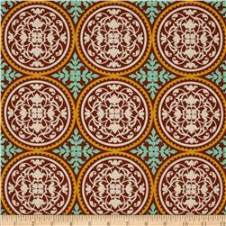 Joel Dewberry True Colors Scrollwork Maple Fabric