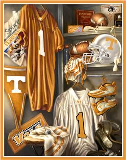 Collegiate Locker Room Fleece Panel University of Tennessee