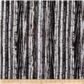 On The Wild Side Flannel Birch Tree Grey