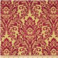Holiday Elegance Metallic Brocade Red